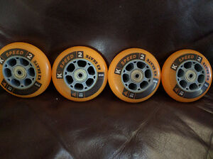 K2 90mm inline skate wheels. New. Bont inline skates