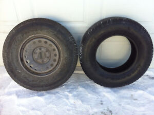 2 - 265/70R17. 1 is brand new. 1 is 90 % Goodyear Wrangler ST