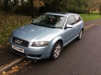2003 Audi A3 1.6-12 months mot-service history-great value-part x to clear