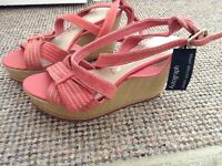 Gorgeous coral pink sandals