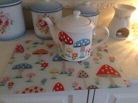 Rare cath kidston mushroom teapot collection only