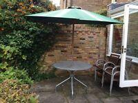 Garden table and parasole
