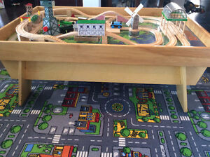 Custom Made Train Table with Authentic Thomas Train and Track Stratford Kitchener Area image 1
