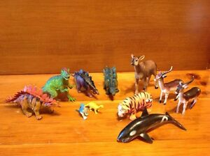 Lot of animals and Dinosaur rubber plastic toys Windsor Region Ontario image 1