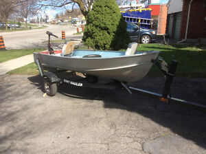 12foot aluminum boat with trailer