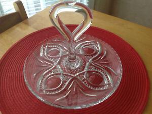 Vintage Crystal Platter