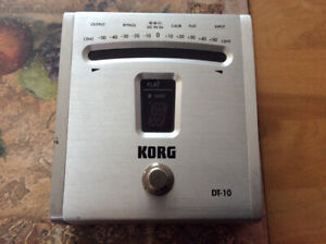 Korg tuner pedal for guitar or bass