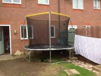 Argos sports power 10ft trampoline like new 4 months old