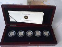 CANADA FAREWELL TO THE PENNY ORIGINAL 5 COIN SET