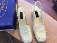 Meadows Bridal Wedding Shoes - Tiffany Ivory Satin Size 6