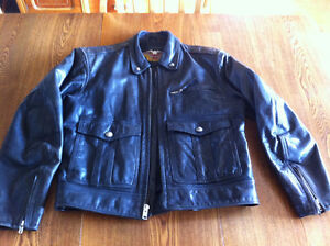 HD Mens Leather Jacket Medium