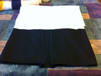 Black, pleated bedskirt for Queen bed