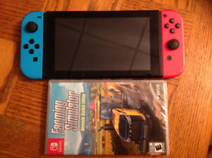 Nintendo switch console + 1 sealed game