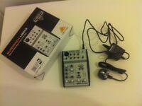 Euro rack UB50 Ultra-Low Noise Design 5-Input 2-Bus Mixer