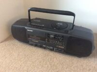 CD tape cassette radio player recorder personal stereo hifi Sharp