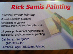 Rick Samis Painting / Cobourg and surrounding area