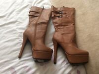 New tan boots