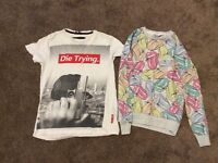 Rolling stones jumper and die trying t-shirt