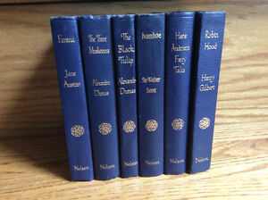 LOT OF 6 ANTIQUE NELSON SMALL LEATHERETTE CLASSICS FOR CHILDREN
