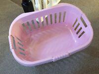 Pink Laundry Basket