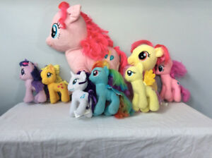 9 My Little Pony Plushies, various sizes