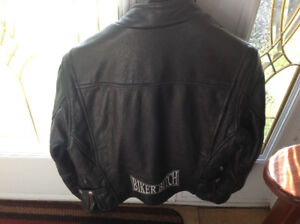 Ladies motorcycle jacket (biker bitch) size medium