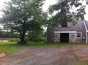 Income property with horse barn