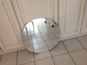 Brand new circular bevelled mirror