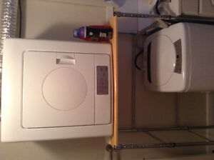 Apartment sized washer and dryer with stand