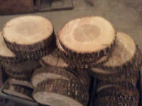 Wedding table centre pieces / woodslices