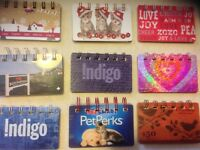 Upcycled gift card notebooks