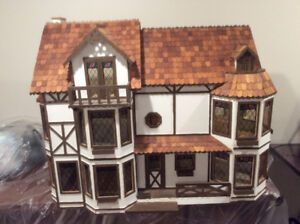 Wooden Doll House and furniture