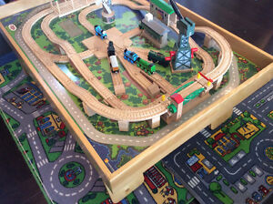 Custom Made Train Table with Authentic Thomas Train and Track Stratford Kitchener Area image 2
