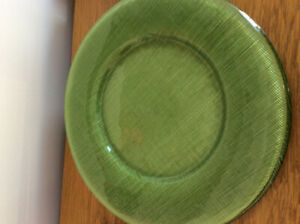 Villroy and Bach glass charger plates