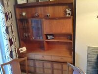 Teak Parker knoll wall unit