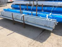 """Scaffold tube 2"""" 48.3 x 4mm wall in 21' 16' 13' lengths. 20' alloy tube both for Keyclamp Interclamp"""