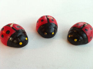 Lot of 6 Lucky Ladybugs Beetle Shaped Candles Red & Black Peterborough Peterborough Area image 1
