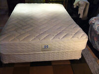 sealy posturepedic double bed,box spring and frame