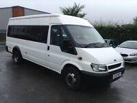 03 ford transit 2.4tdci 12m mot 17seater minibus camper conversation 12m warranty