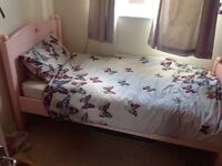 Pink Feather and Black Noah single bed frame