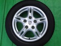 "16"" PORSCHE BOXSTER 986 ALLOY WHEELS ALLOYS TYRES WHEELS RIMS PCD 5X13O FITMENT"