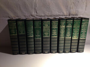 Classic leather bound books