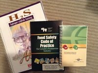 Course text books; Fort McMurray; H2S Alive & H&S & Food Safe