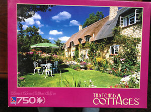 NEW* (Still in SEALED BOX) 750 Pc. Puzzle 'THATCHED COTTAGES