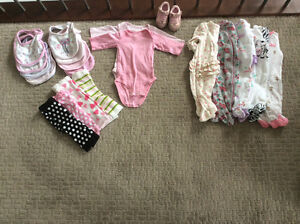 0-6 mos girls clothing lot pet Free Smoke free
