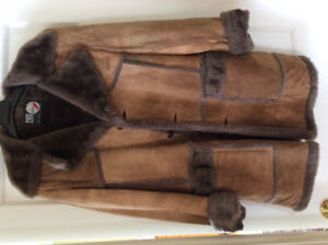 Manteau d'hiver pour homme en fourrure