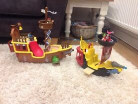 Jake and the Netherland pirate Bucky and jolly Rodger ship