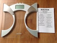 Salter glass bathroom weighing scales analyser