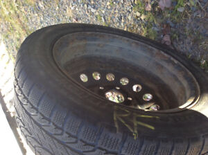 Four winter  tires and rims for sale 205/55/16