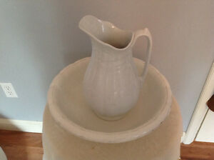Antique large pitcher and basin